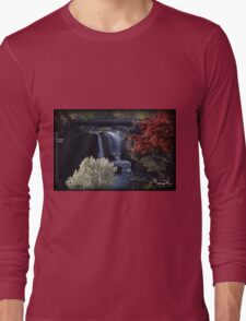 Great Falls Spring Foliage Long Sleeve T-Shirt