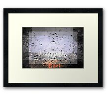 Composition With Ghosted Birds, Trees and Sky – July 15, 2010  Framed Print
