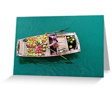 boat vendors Greeting Card