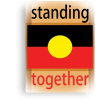 Standing Together Aboriginal Flag Canvas Print