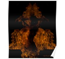 Lady In Flame Poster