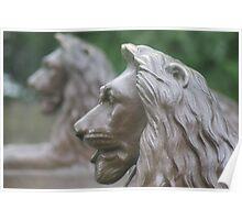 Bronze Lions Poster