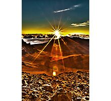 Sunrise at Haleakala Crater Photographic Print