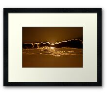 Sunset Blocked by Cloud Framed Print