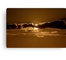Sunset Blocked by Cloud Canvas Print
