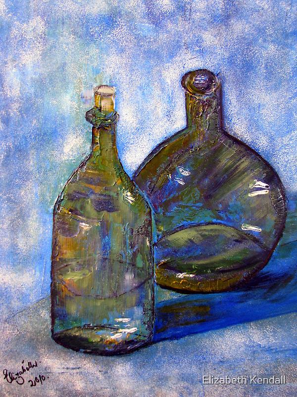 Two green bottles... by Elizabeth Kendall