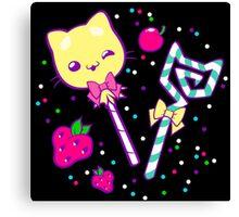 Kawaii Kitty Sprinkles Canvas Print