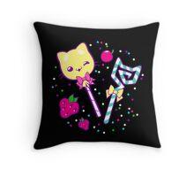 Kawaii Kitty Sprinkles Throw Pillow