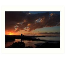 Golden Sunset, Currumbin Beach, Queensland Art Print