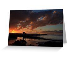 Golden Sunset, Currumbin Beach, Queensland Greeting Card