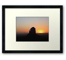 The Mitten at Sunrise Framed Print