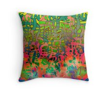 Psychedelic Alba. Throw Pillow