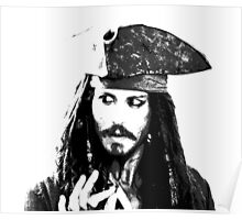 Awesome Johnny Depp - Stencil - Pirates Caribbean - Street art Graffiti Popart Andy warhol Poster