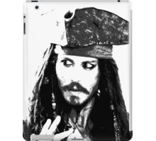 Awesome Johnny Depp - Stencil - Pirates Caribbean - Street art Graffiti Popart Andy warhol iPad Case/Skin