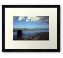 Sea, Blue Sky & Clouds Framed Print