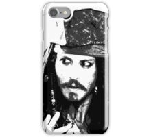 Awesome Johnny Depp - Stencil - Pirates Caribbean - Street art Graffiti Popart Andy warhol iPhone Case/Skin