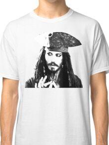 Awesome Johnny Depp - Stencil - Pirates Caribbean - Street art Graffiti Popart Andy warhol Classic T-Shirt