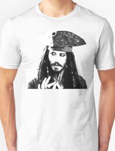 Awesome Johnny Depp - Stencil - Pirates Caribbean - Street art Graffiti Popart Andy warhol Unisex T-Shirt