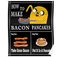 How To: Bacon Pancakes Poster