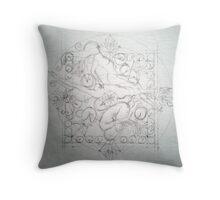 Lotus Fairies Throw Pillow
