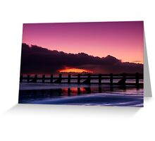 Aberdeen beach before sunrise Greeting Card