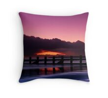 Aberdeen beach before sunrise Throw Pillow