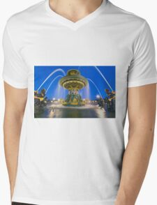 Fontaines De La Concorde Mens V-Neck T-Shirt