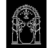 Moria's door - pixel art Photographic Print