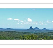 Glasshouse Mountains (Panorama) Sticker