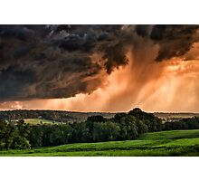 Storm Approaching Sky  Photographic Print