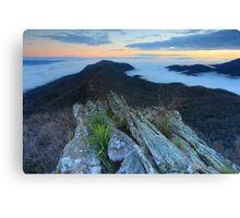 Dawn on the Razors edge  Canvas Print