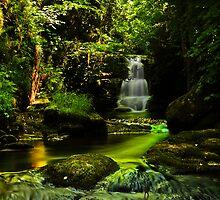 Watersmeet Falls Cascade / Lynmouth / UK by David-J