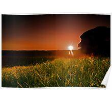 Bellever Tor Sunset Poster