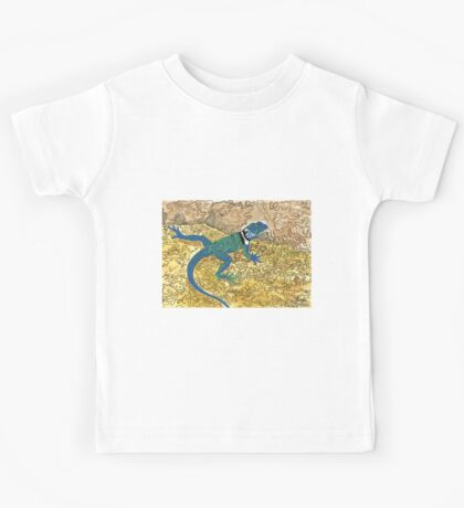 Daily Doodle 6 - Lizard Sunning on a Sizzling Stone Kids Tee