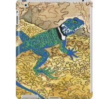 Daily Doodle 6 - Lizard Sunning on a Sizzling Stone iPad Case/Skin