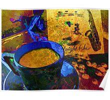 Sax & Coffee. Poster