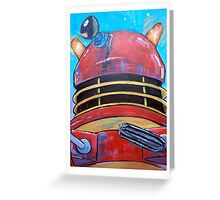 Retro Dalek - celebrating 50 years of Dr Who Greeting Card