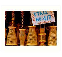 Cane  Lanterns Art Print