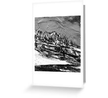 rural town winter storm...  Greeting Card
