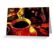 SAX & COFFEE. Greeting Card
