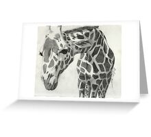 A giraffe in pencil Greeting Card