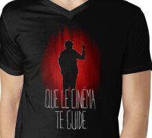 UM15 - QUE LE CINEMA TE GUIDE Mens V-Neck T-Shirt