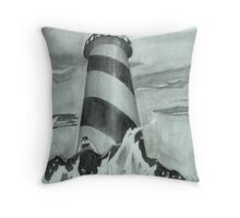 A lighthouse in pencil Throw Pillow