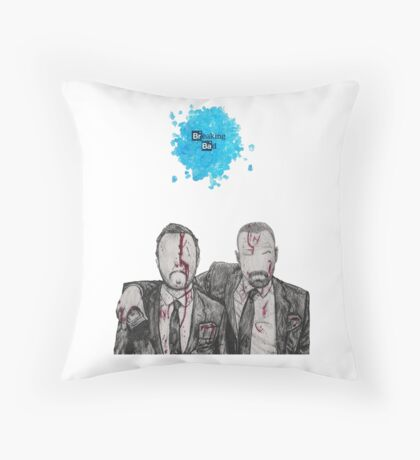 Jesse and Mr White Throw Pillow