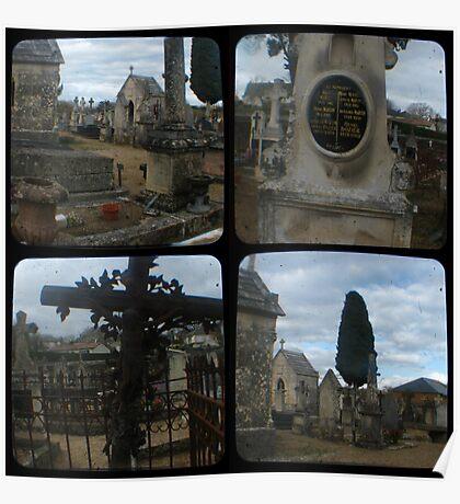 Village Cemetery through the viewfinder Poster