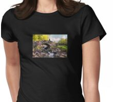 With Flowers In Her Hair Womens Fitted T-Shirt