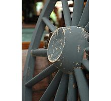 horse carriage wheel Photographic Print