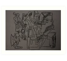 Men at Work Art Print