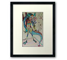 Jazzy Dragon Framed Print