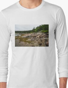 Low Tide - Walking on the Bottom of Saint Lawrence River Long Sleeve T-Shirt